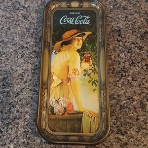 Antique 1972 Coca Cola Tin Metal collectible tray